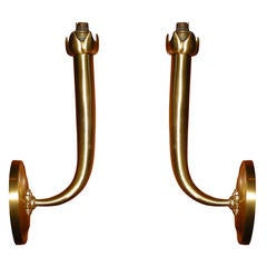 Two 1940s Sconces Attributed to Andre Arbus