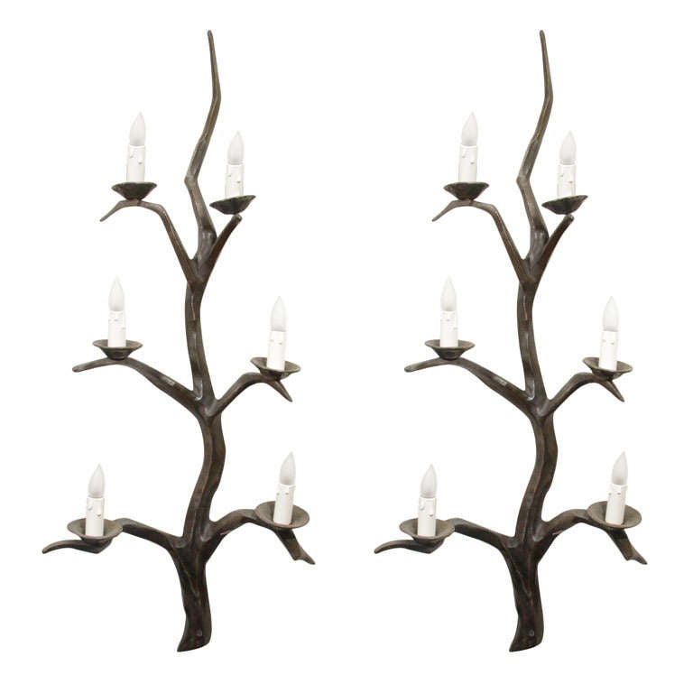 Huge Pair of Sconces in the Style of Felix Agostini