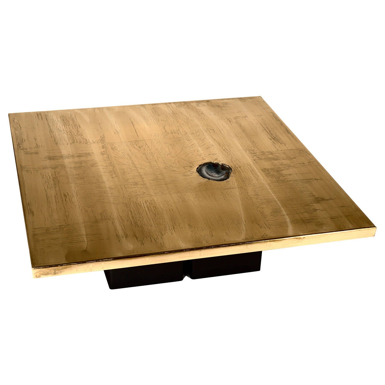 Coffee Table Brass Etched by Christian Heckscher