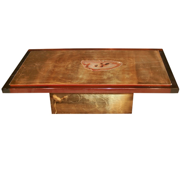 Armand Jonckers Coffee Table With Illuminated Centre At 1stdibs
