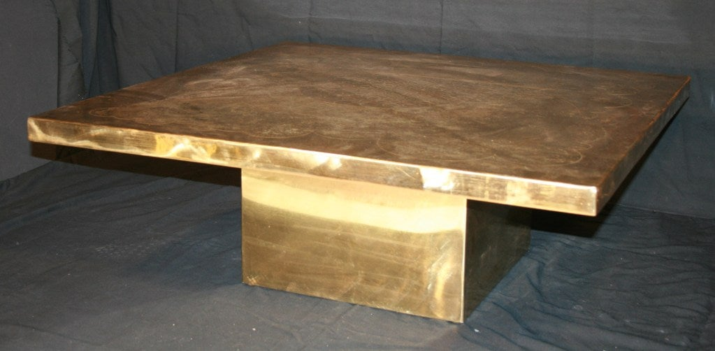 Armand Jonckers Square Coffee Table In Good Condition For Sale In New York, NY