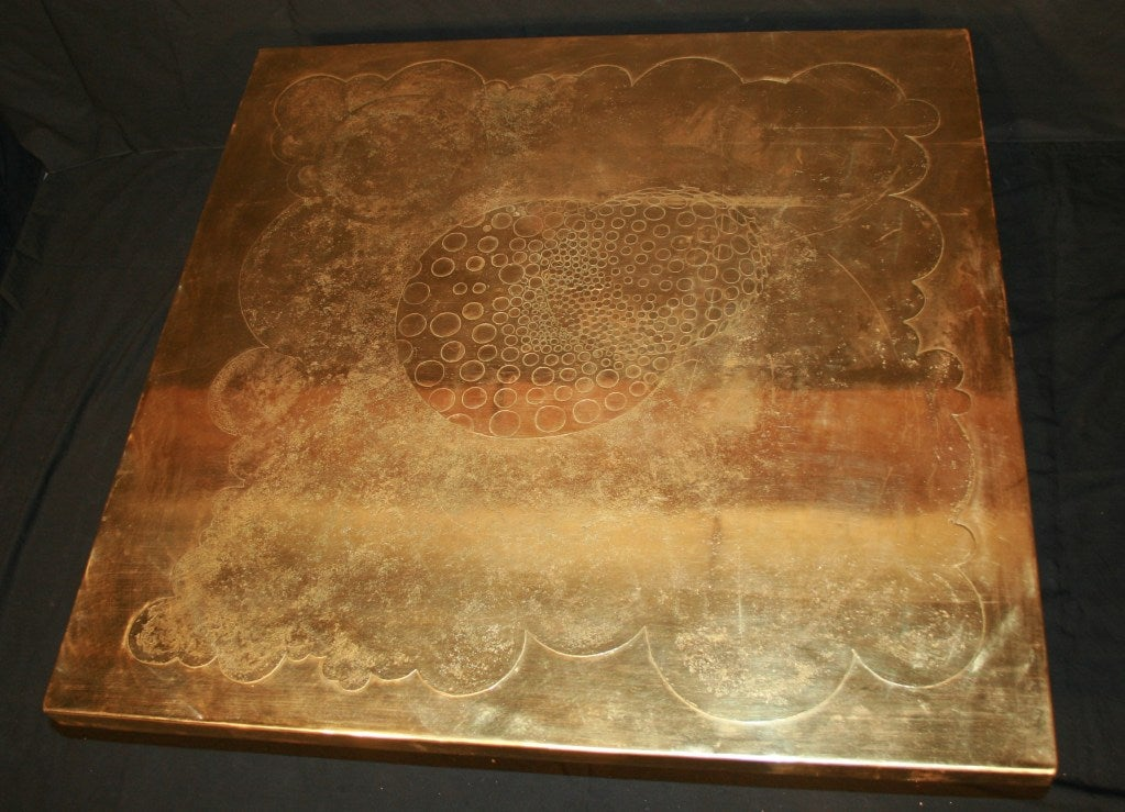 Late 20th Century Armand Jonckers Square Coffee Table For Sale