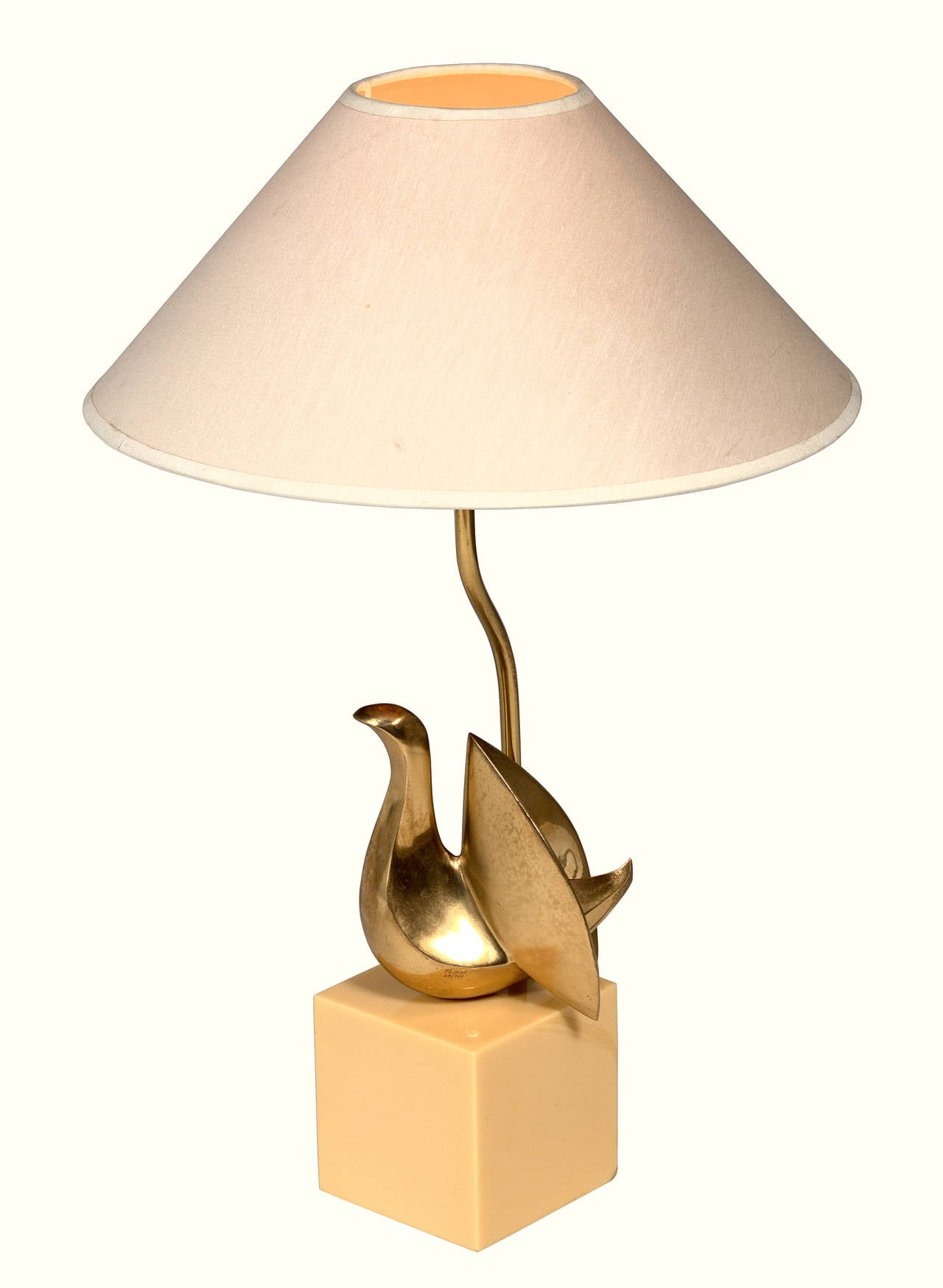 Table lamp by Philippe Jean, signed and numerated, 119/300 Ph. Jean, Original condition.