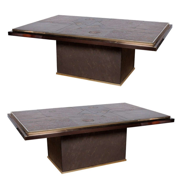 Pair of in the Style of Paul Kingma Coffee Tables