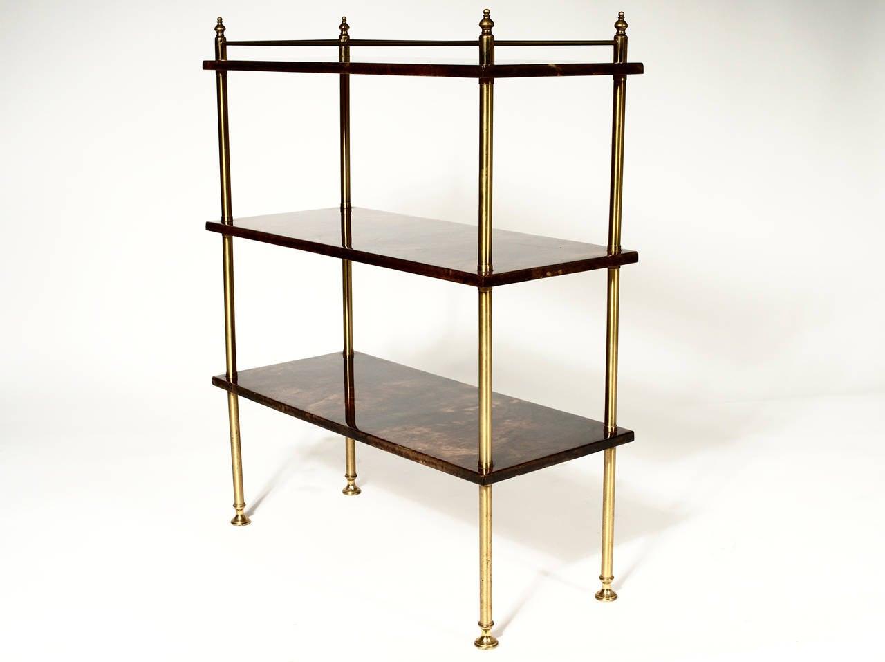 Italian Bookcase by Aldo Tura For Sale