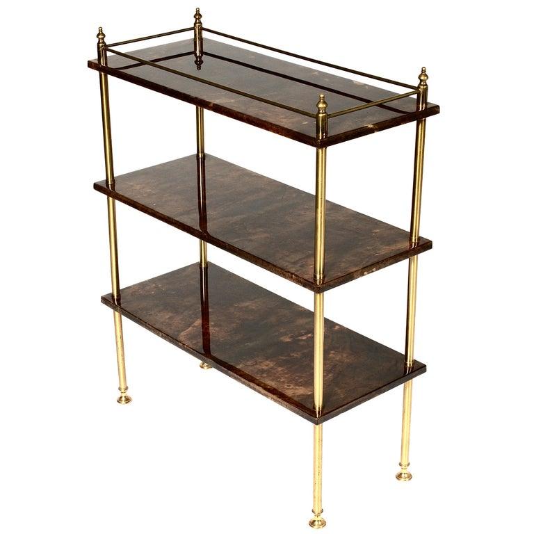 Bookcase by Aldo Tura For Sale