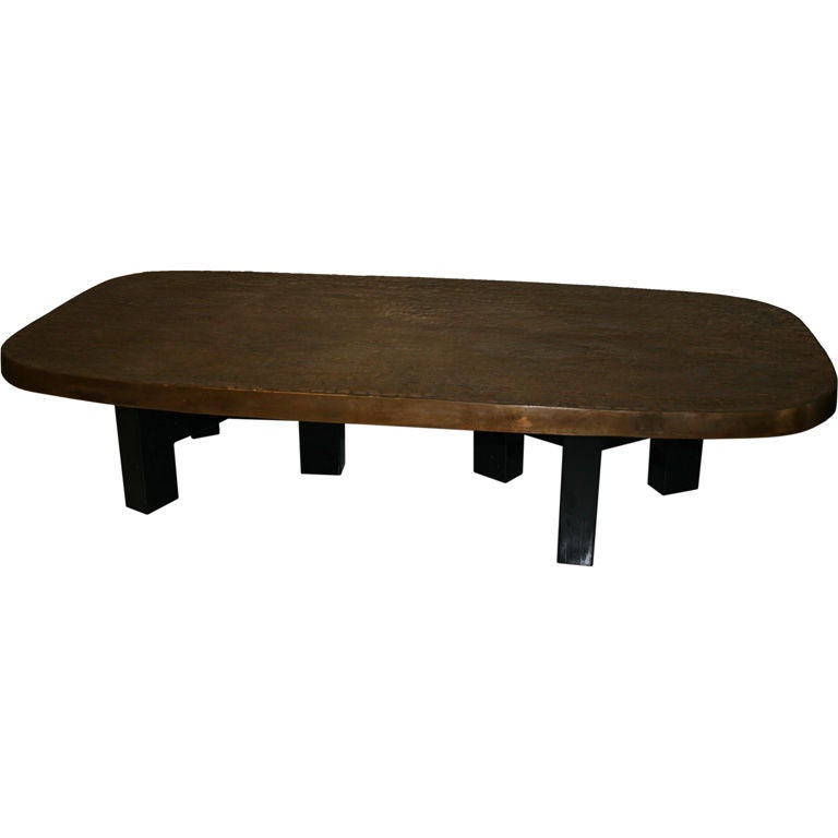 Bronze coffee table by ado chale at 1stdibs Bronze coffee tables