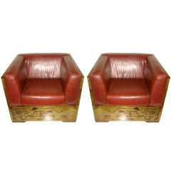 Pair of large armchairs by Maison Jansen