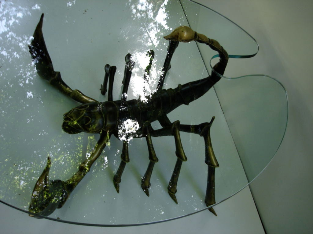 Late 20th Century Attributed to Jacques Duval Brasseur Scorpion Table For Sale