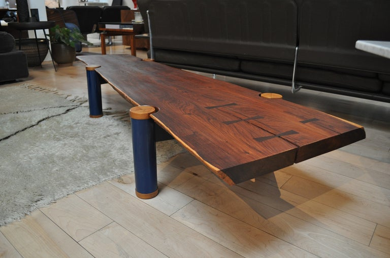 Rosewood Slab Bench By Richard Patterson At 1stdibs