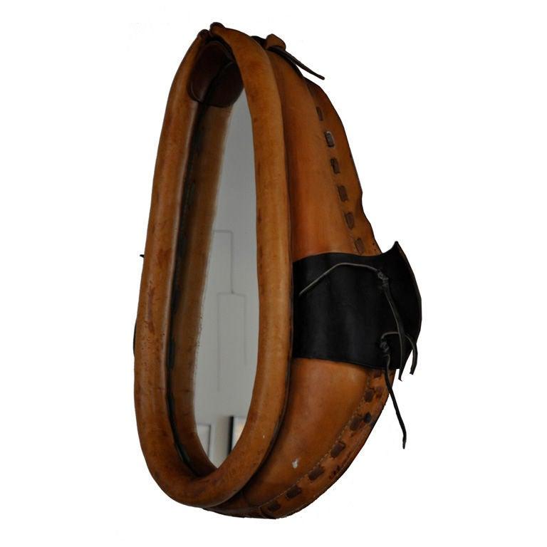 Vintage American Collar Saddle Mirror
