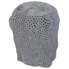 Pierced Stoneware Stool/Table
