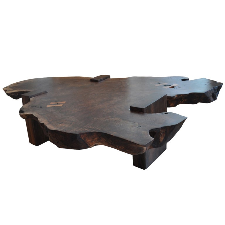 Walnut Slab Coffee Table By Richard Patterson At 1stdibs