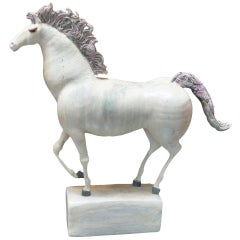 Mid Century Ceramic Horse Sculpture