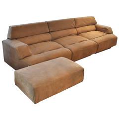 """""""Virgo"""" sofa and ottoman"""