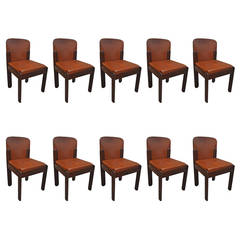 Set of Ten Dining Chairs in the Style of Tobia Scarpa