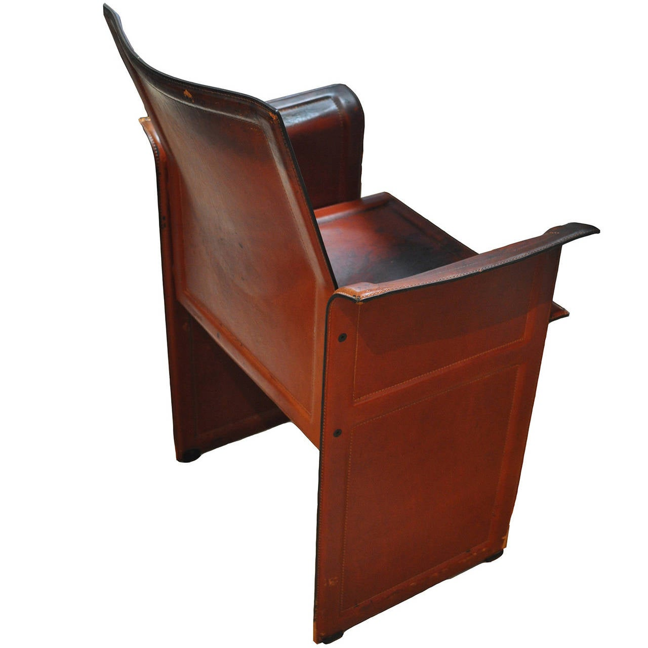 Charming Matteo Grassi Leather Armchair For Sale