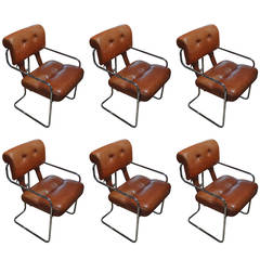 "Set of Six Guido Faleschini ""Tucroma"" Chairs"