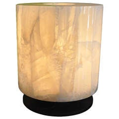 Off White Rock Crystal Lamp by GC