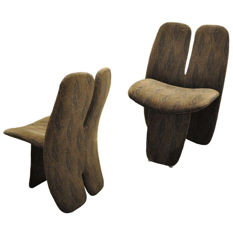 Post Modern Pair Of Chairs At 1stdibs