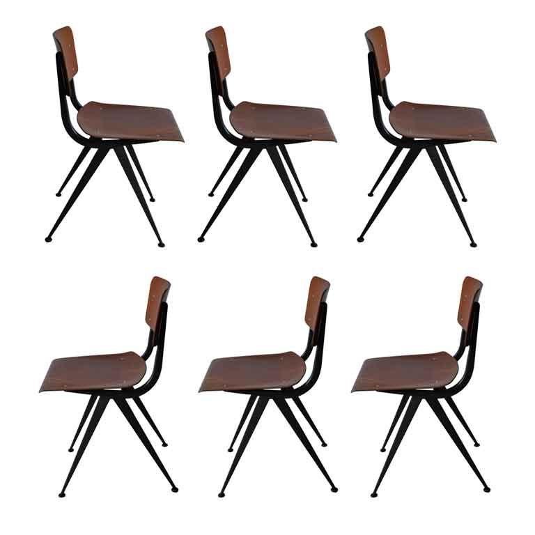 Set of six vintage friso kramer dining chairs at 1stdibs - Kamer dining ...