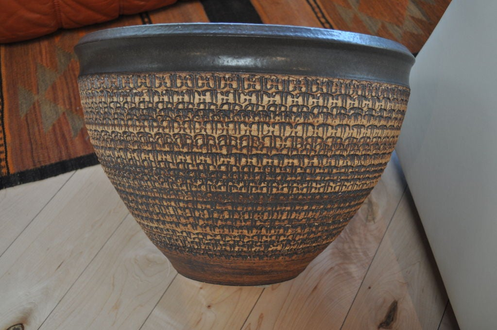 Vintage Modern Large Ceramic Planter At 1stdibs