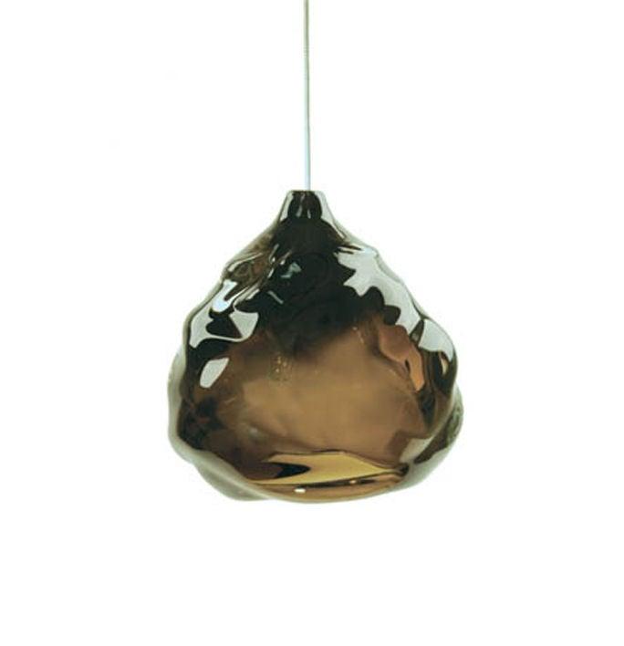 Blown Glass Happy Kiss Pendant Light For Sale