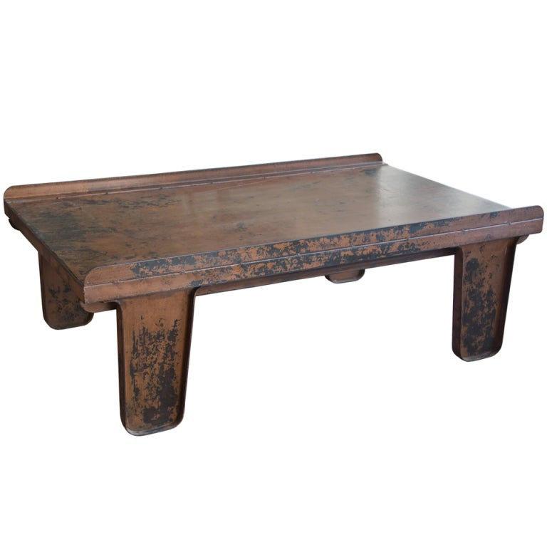 Vintage English Industrial Coffee Table At 1stdibs