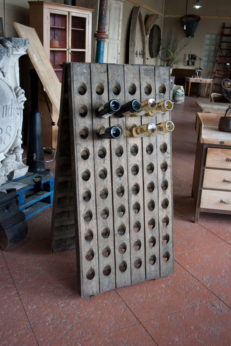 Antique French Riddling Rack At 1stdibs