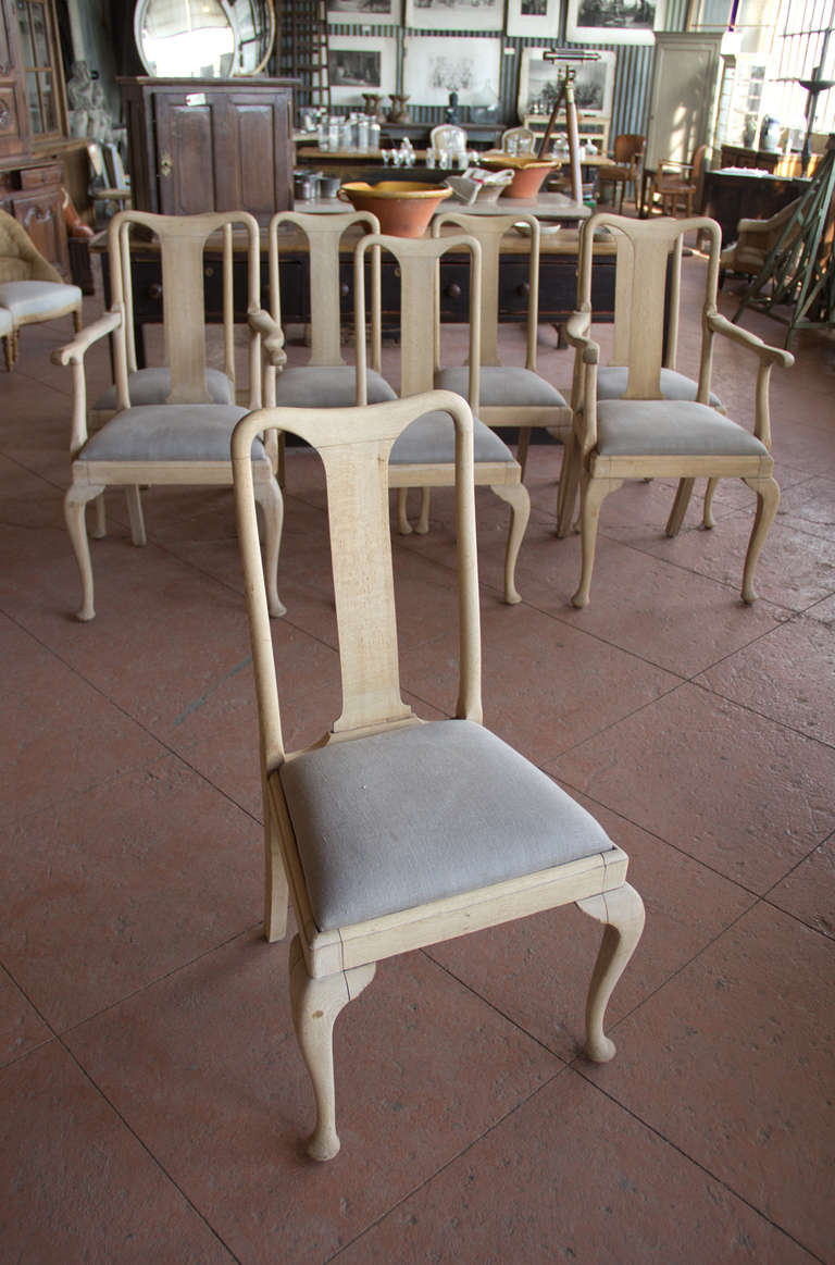 set of 8 1920s queen anne style chairs at 1stdibs