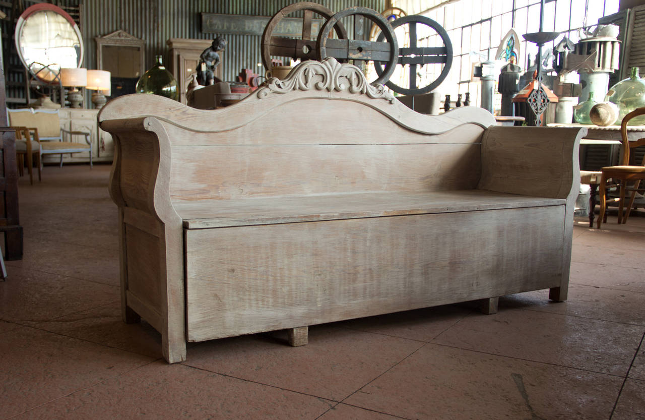 Storage Benches For Sale Antique Gustavian Bench With Storage For Sale At 1stdibs