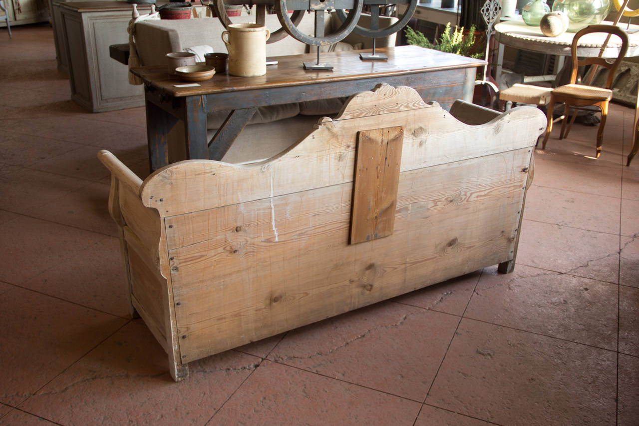Antique Gustavian Bench With Storage For Sale At 1stdibs