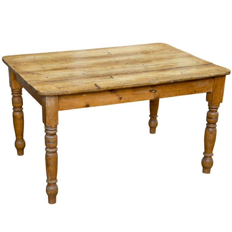 Victorian Pine Plank Table 1