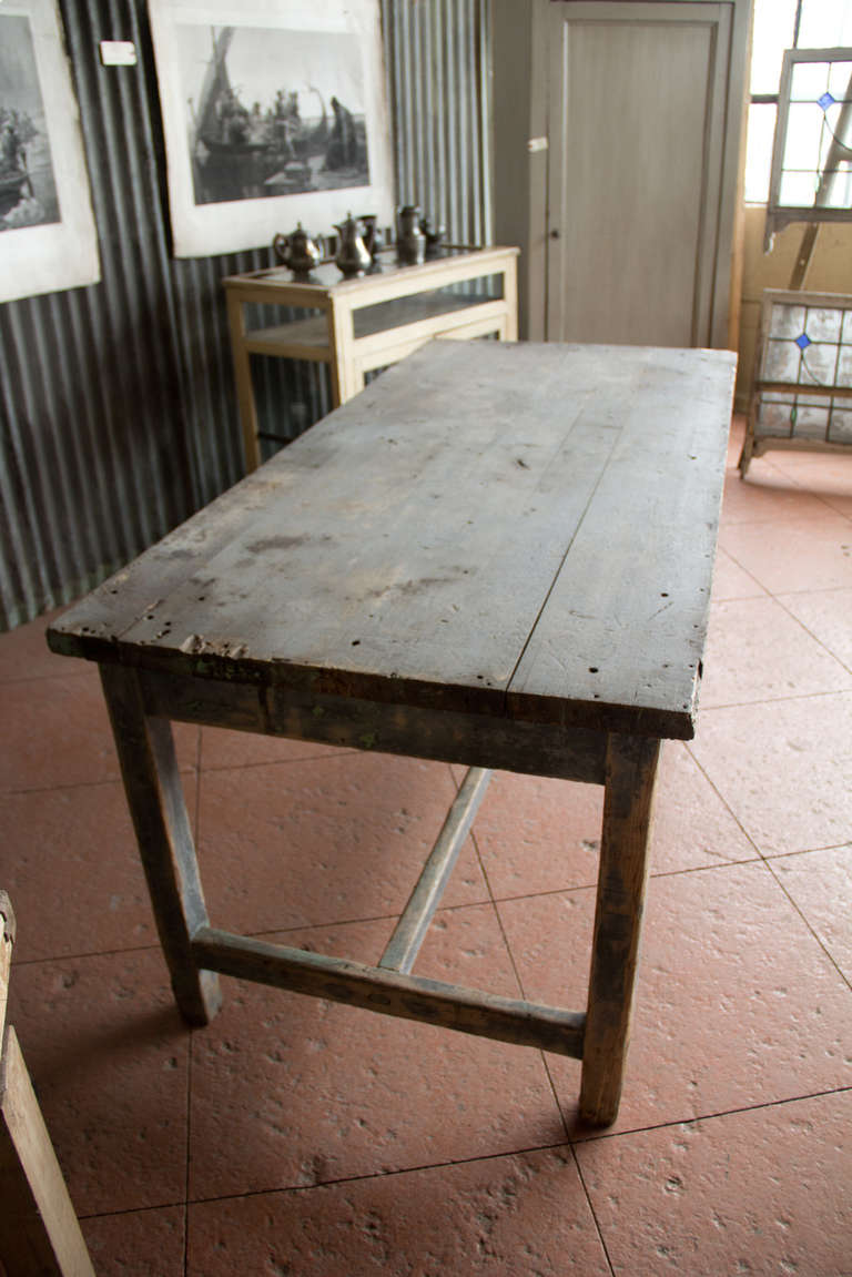 antique french industrial work table at 1stdibs. Black Bedroom Furniture Sets. Home Design Ideas