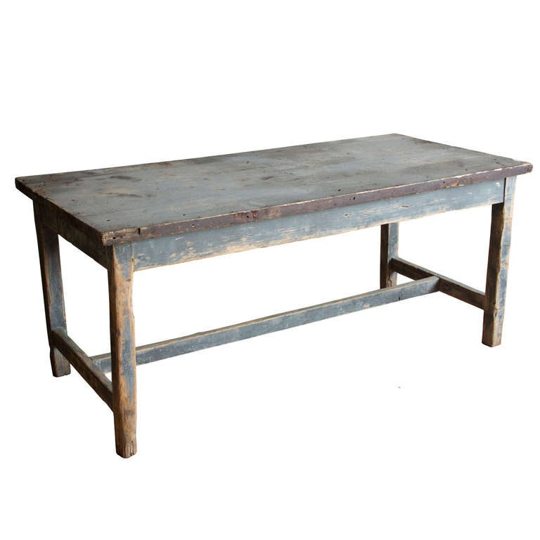Antique French Industrial Work Table at 1stdibs