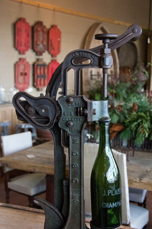Antique French Wine Corker At 1stdibs