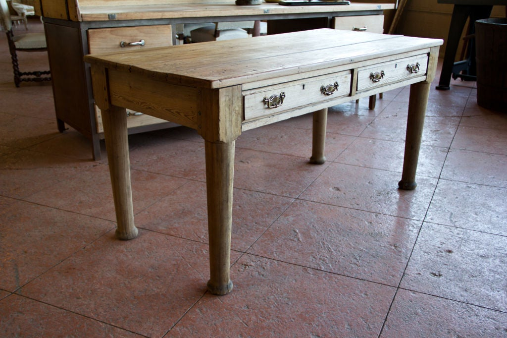 Victorian Country Pine Scrub Top Table image 4
