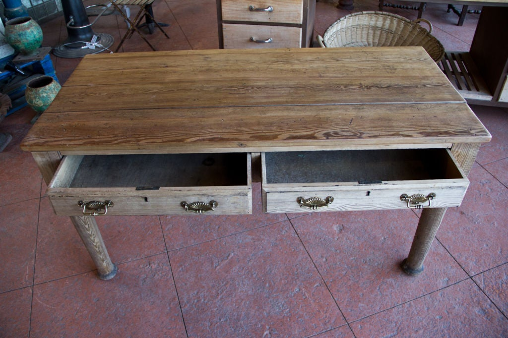 Victorian Country Pine Scrub Top Table image 8