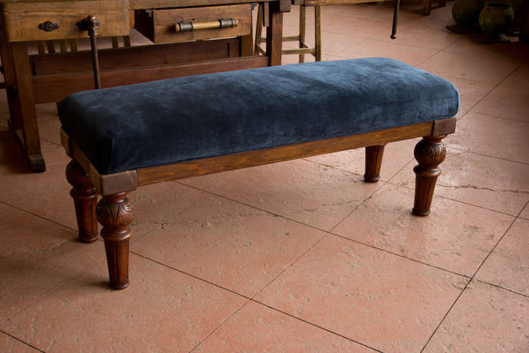Large Upholstered Bench At 1stdibs