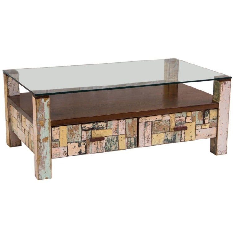 Repurposed Patchwork Coffee Table At 1stdibs
