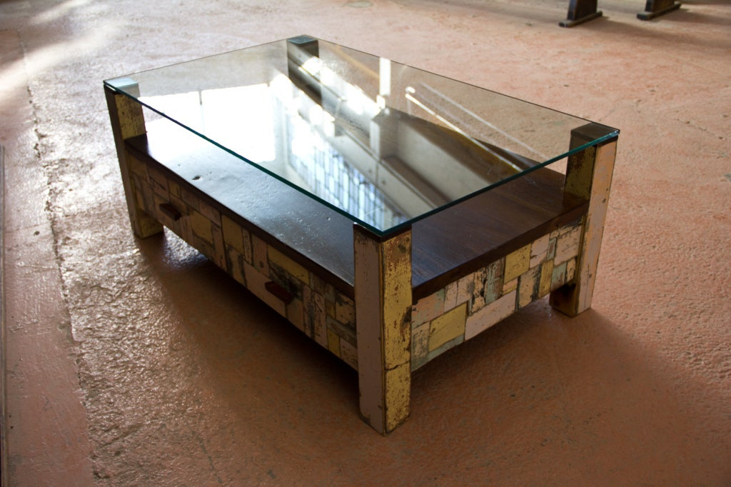 repurposed patchwork coffee table image 10