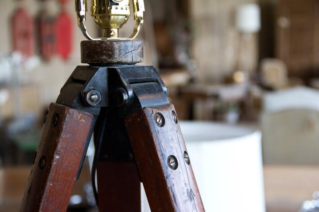 Vintage Surveyor S Tripod Repurposed As Floor Lamp At 1stdibs