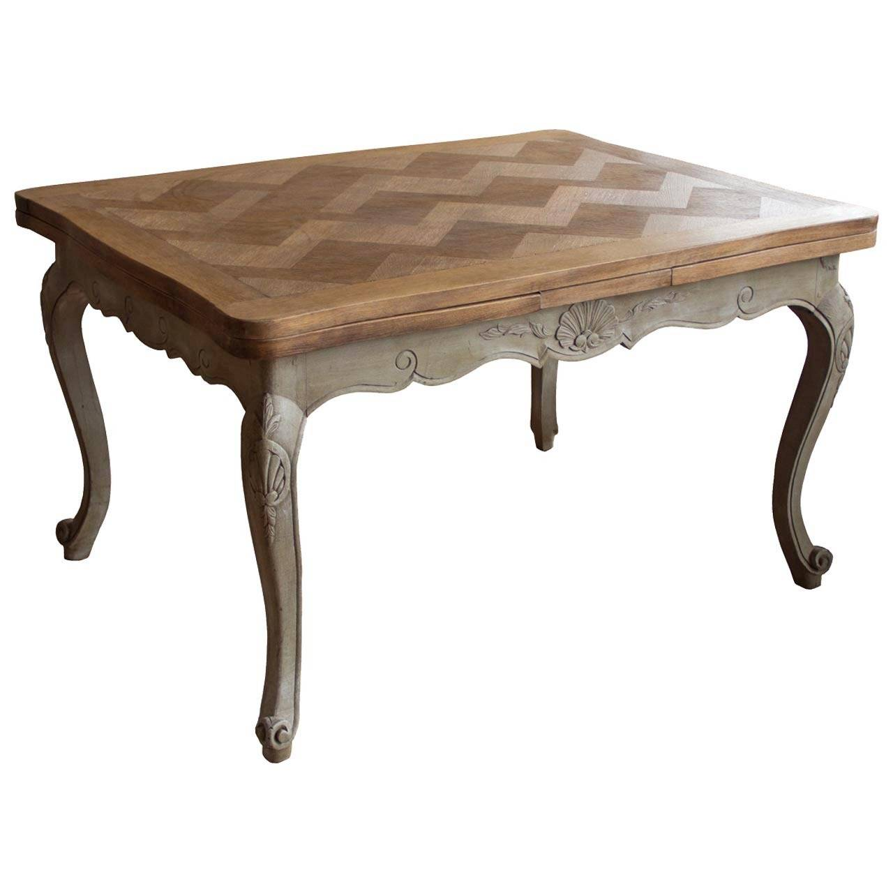 Antique french louis xv revival oak dining table at 1stdibs - Table louis xv ...