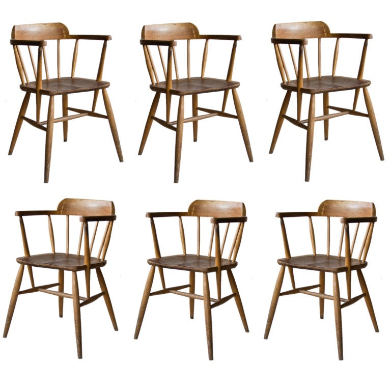 this set of 4 vintage school chairs is no longer available