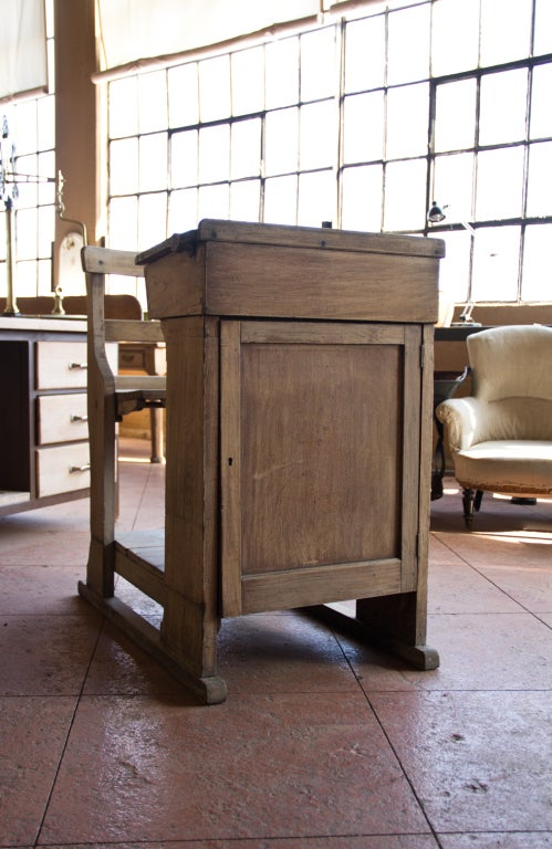 Victorian Oak Teacher's Desk 10