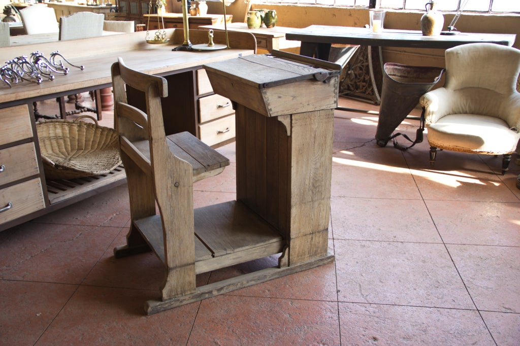 Victorian Oak Teacher's Desk 2