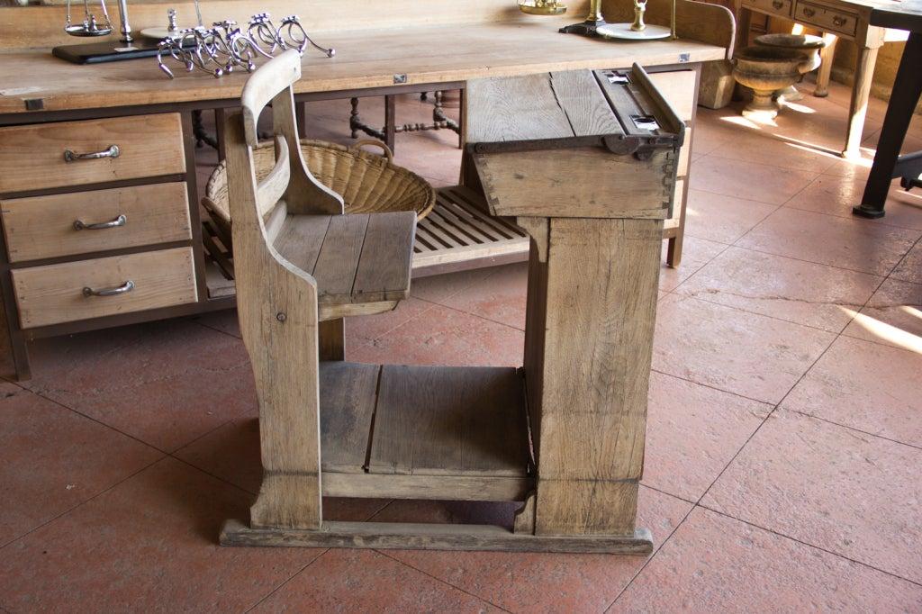 Victorian Oak Teacher's Desk 3