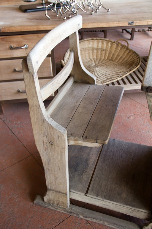 Victorian Oak Teacher's Desk 5