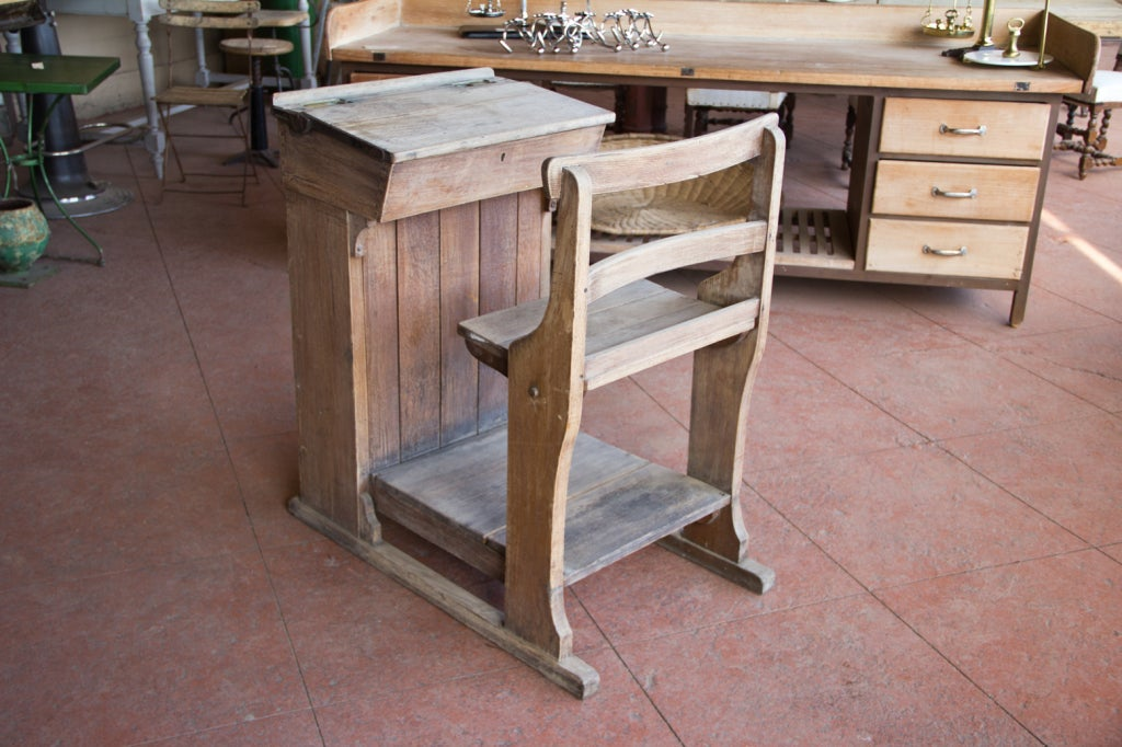Victorian Oak Teacher's Desk 6