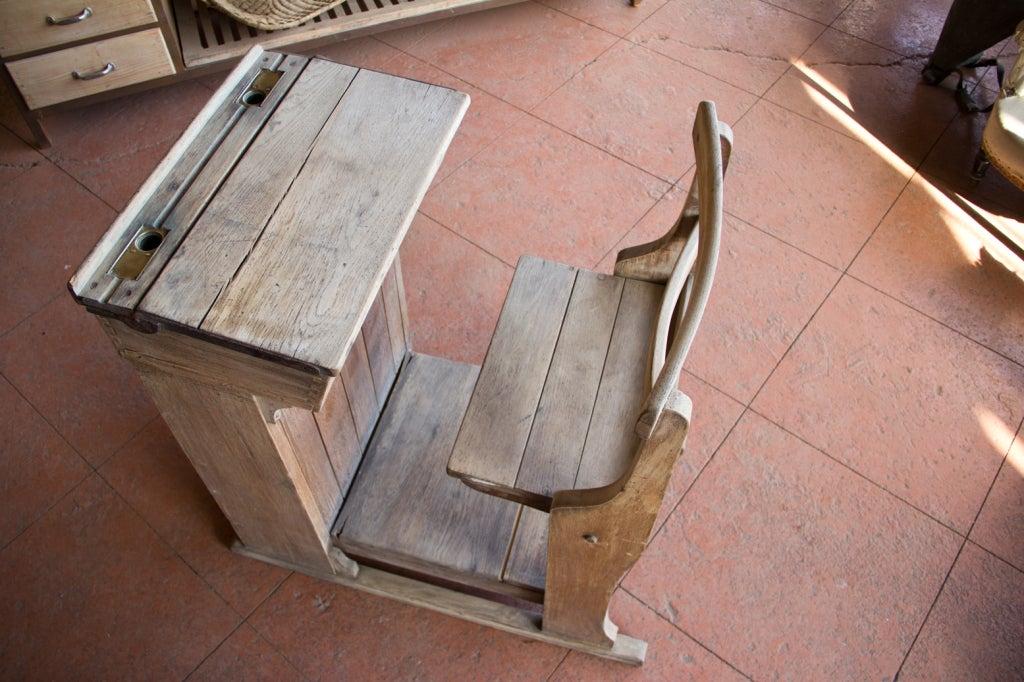 Victorian Oak Teacher's Desk 7